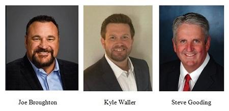Joe Broughton, Kyle Waller, Steve Gooding