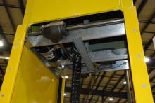 photo of internal mast frame