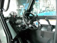 photo of cab interior