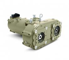 John Deere Power Systems (JDPS) debuted new electric drivetrain components at Bauma 2019.