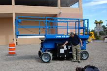 powered access genie scissor lift