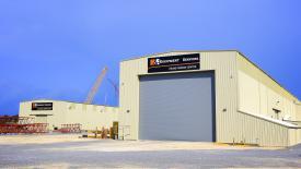 H&E Equipment's new crane facility