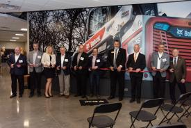Ribbon cutting ceremony at the new Bobcat Training Center
