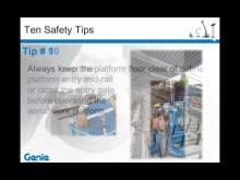 SAF-T Conference Webinar: Top 10 Safety Tips for Operating Aerial Work Platforms